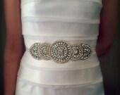 ON SALE Bridal Sash, Rhinestone Sash, KATARINA, Bridal Belt, Wedding Sash, wedding Belt, ribbon, bridal