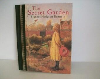 Vintage book | vintage The Secret Garden by Frances Hodgson Burnett | Illustrated in color by Troy Howell | children's classics vintage book