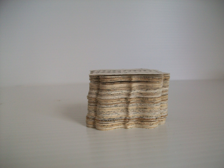 100 vintage book paper punches vintage paper scallops for Vintage book paper