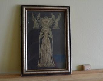 Gothic Linocut Print