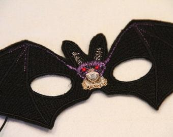 Childs Bat Mask - Black