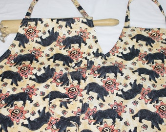 Black Bears Mother Daughter Aprons
