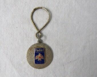 Vintage 70s Keychain Pontiac Fire Bird  Enamel Car Automobile - Key fob  - Gift for Dad - DR5