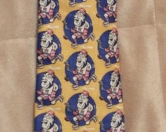 Marco Polo Hockey Player Novelty Necktie Marco Polo Italian Style Tie
