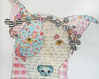 Folk Art Dog Portrait