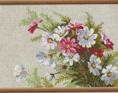 """Riolis Counted Cross Stitch Kit """"Cosmos"""" Created by Ida Shtandel UnOpened Cross Stitch Kit Floral Decor"""