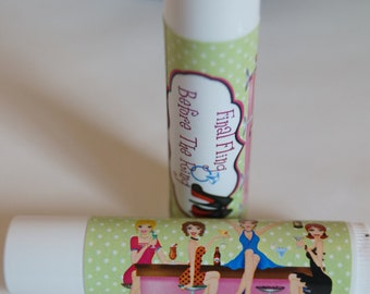 Bachelorette Party lip balm, Lip Balm, Girls Night Out, party favors, personalized party favors, bridal shower favors, Set of 10