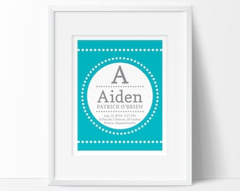 personalized baby gift, birth stats, birth details, Nursery printable, baby name art, printable nursery art, digital nursery, new baby gift