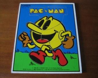 1982 Pac Man Playskool Wooden Puzzle