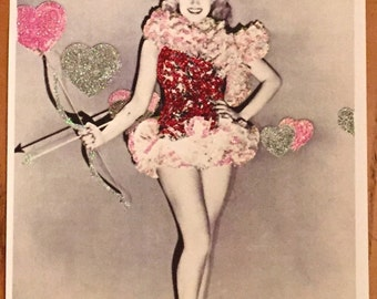 Embellished Valentine print