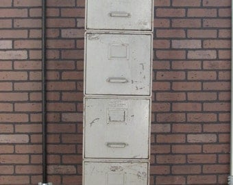 General Fireproofing Vintage File Cabinet Stacking Metal Sections. Industrial Antique Steel (A)