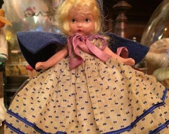 Nancy Ann Bisque Storybook Doll - Rain Rain Go Away- Rare