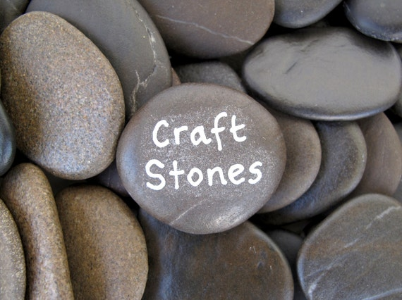 Craft rocks flat beach stones craft stones art rocks by for Flat stones for crafts