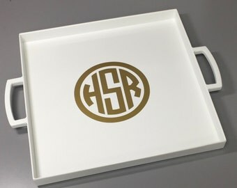 Serving Tray - Monogram Tray - Personalized Wedding Gift - Monogram Gift - Personalized Gift