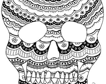 Scalloped Skull Print