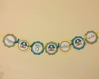 Adorable Home Themed Party Word Banner