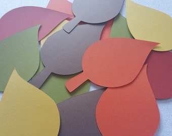50 Fall Leaves Die Cuts 4 inches