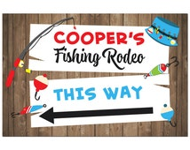 Personalized Fishing Poster Printable or Printed with FREE Shipping - ANY Wording  - Fishing Rodeo Collection