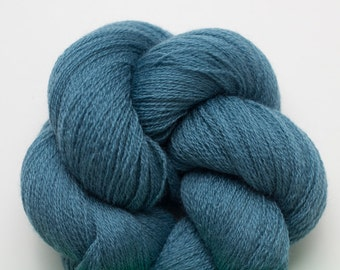 Muted Teal Recycled Merino Fine Lace Weight Yarn, 2374 Yards Available
