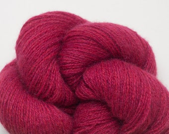 Lace Weight Recycled Cashmere Yarn, Raspberry Cashmere Lace Weight Recycled Yarn, 311 Yards Available