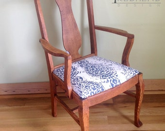 Vintage Oak Claw Foot Chair with Pure Tung Oil