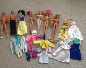 Vintage Barbie Ken Disney Dolls & Clothing Lot