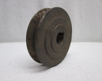 Pulley, belt pulley, supplies assemblage rusty salvage