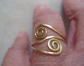 Yin yang Textured Adjustable Ring