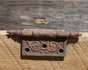 Door Hinge, Victorian Cast Iron, 3 x 3