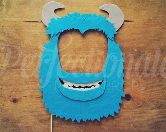 Monster Mask Photo Booth Prop | Blue Monster Prop