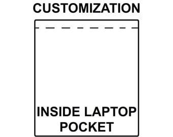 Inside laptop pocket upgrade for your tote bag, Macbook pocket