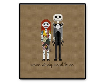 Jack and Sally In Love - Cross Stitch PDF Pattern