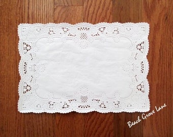 100+ White Lace Paper Placemats~Quantities:  100/110/120/130/140 Dinner Place Setting~Weddings~Showers~Parties~Scrapbooking~Embellishing