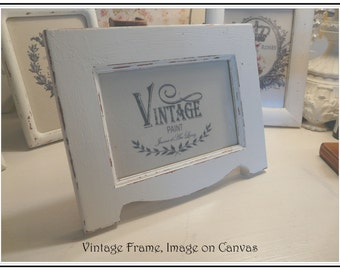 5 x 7 Shabby Picture Frame with Lovely Image Transfer on Canvas