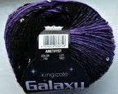 King Cole Galaxy DK Light Worsted Shade 740 Amethyst Purple black