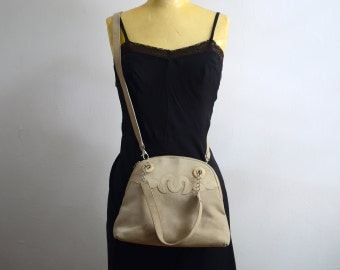 Vintage Escada Suede Convertible Crossbody Handbag