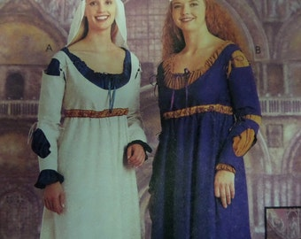 RENAISSANCE MAIDEN DRESS Pattern • McCall's 9427 • Miss 16-22 • Handmaiden Dress • Medieval Serving Girl • Costume Pattern • WhiletheCatNaps