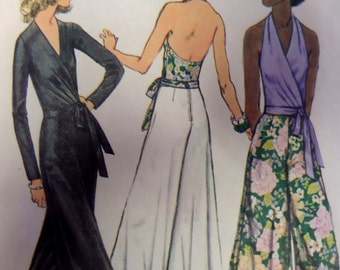 PALAZZO PANTS Pattern • Simplicity 5355 • Miss 12 • 70s Wrap Halter • Wide Leg Pants • Sewing Patterns • Vintage Patterns • WhiletheCatNaps