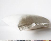 Ruffle pillowcase for kids White or custom color soft linen crib bedding for baby or toddler