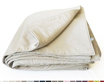 Linen blanket for baby or toddler Wool blanket or cotton quilt Soft linen crib bedding