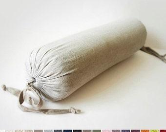 Linen bolster pillow Custom color  Lovely Home Idea