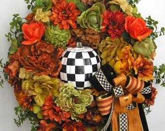 Autumn Wreath, Fall Wreath, Pumpkin Wreath, Halloween Wreath, Winter Wreath, Thanksgiving Wreath, Christmas Wreath