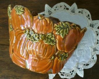 SALE Vintage Autumn Fall Harvest Container - Pumpkins!