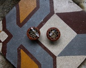Hand carved dreamcatcher wood eyelets plugs for gauged stretched ears 22mm