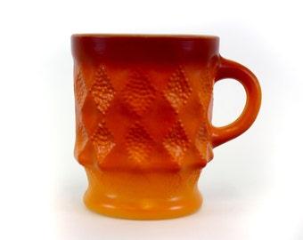 Vintage Orange Ombre Fire King 'Kimberly' Mug (E6713)