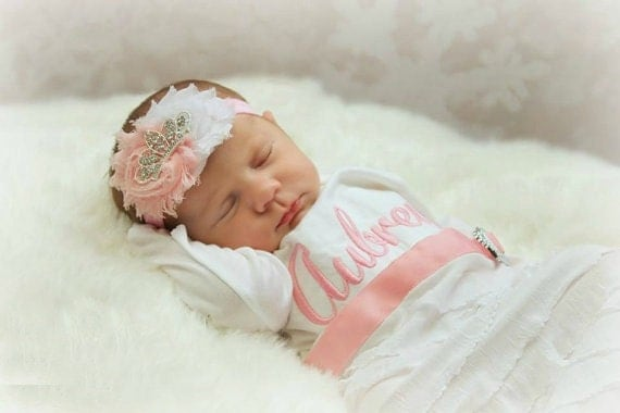 Baby Girl Clothes Personalized Newborn Girl Take Home Outfit