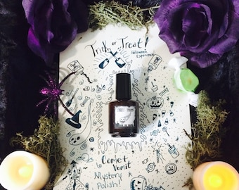 Comet Vomit Trick or Treat Mystery Nail Polish surprise halloween one of a kind experience 15ml