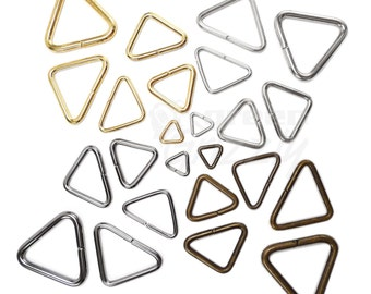 10 psc. Triangular open rings metal jump buckles for webbing different sizes