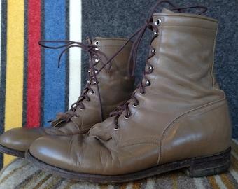 Vintage Justin Roper boots USA men's 10D