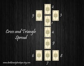 9 Card Cross and Triangle Tarot Reading - Life Direction - Intuitive Tarot Reader - email/PDF